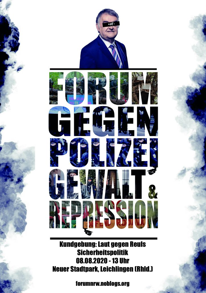 Forum gegen Polizeigewalt und Repression - 08.08.2020 - 13 Uhr - Neuer Stadtpark - Leichlingen